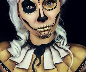 Halloween, maquillage, and magnifique image