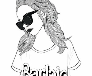 barbie, outline, and drawing image
