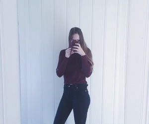 black, burgundy, and fall image