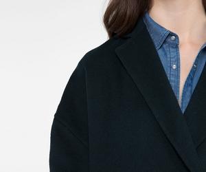 coat, oversize, and wool image