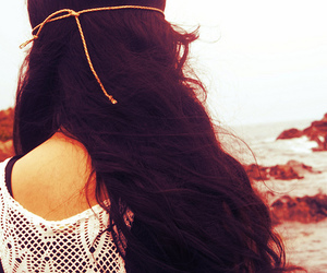 beach, cabelo, and girl image
