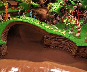 chocolate, Willy Wonka, and river image