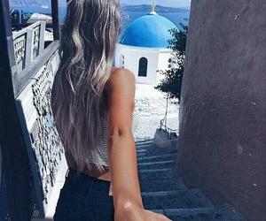 girl, Greece, and couple image
