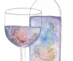 watercolor, art, and drink image