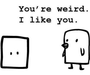 weird, cute, and quote image