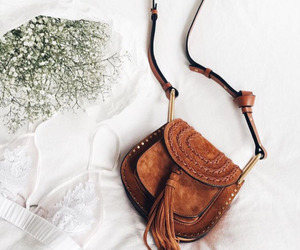 bag, boho, and leather bag image