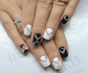 b&w, black, and manicure image