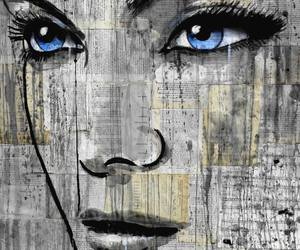 contemporary, pop art, and bright blue eyes image