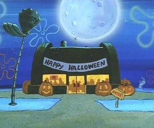 Halloween, spongebob, and happy halloween image