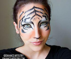 Halloween, makeup, and tiger image