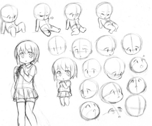 chibi, anime, and drawing image