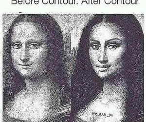funny, makeup, and contour image