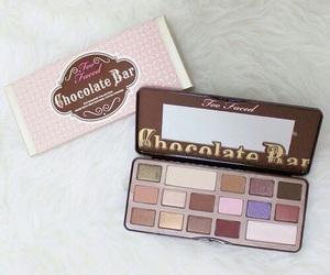 chocolate bar, too faced, and makeup image