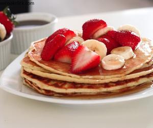 bananas, pancakes, and strawberries image