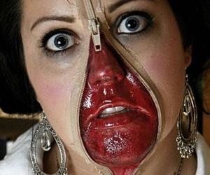 make up and halloweeen image