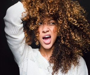 curly hair, natural hair, and curly image