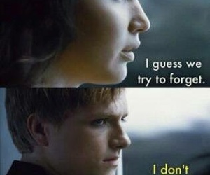forget, katniss, and hunger games image