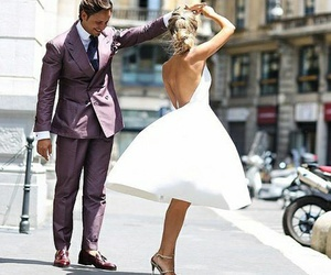 couples, dress, and paris image