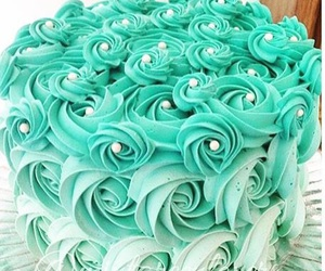cake, food, and mint green image