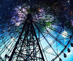 amusement park, anime, and galaxy image