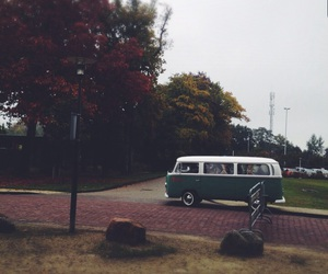 autumn, bus, and Camper image
