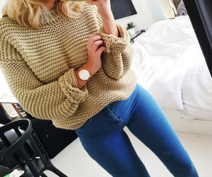 autumn, blonde, and cosy image
