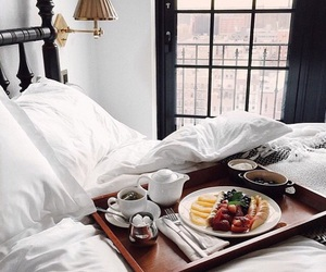 bed and food image