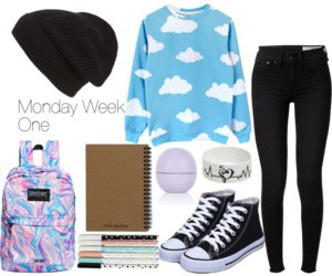 chic, Polyvore, and school image