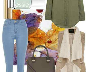 autumn, outfit, and leaves image