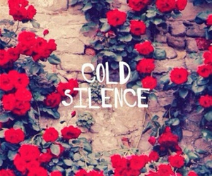 red, silence, and flowers image