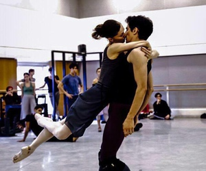 dance, couple, and kiss image