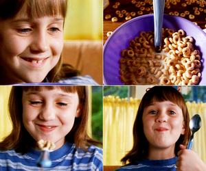 matilda, cereal, and smile image