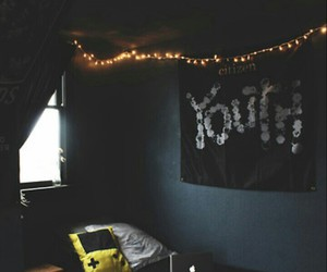 bedroom, room, and youth image