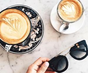coffee, sunglasses, and food image