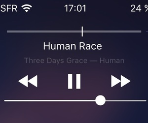 human, iphone, and music image