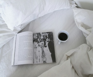 coffee, white, and book image