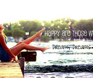dreams and happy image