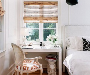 bed, girly, and white image