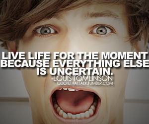 quote, louis tomlinson, and one direction image