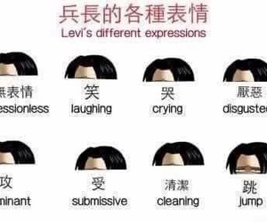 levi, anime, and funny image