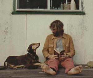 man, dog, and hippie image