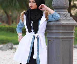 hijab, look, and style image