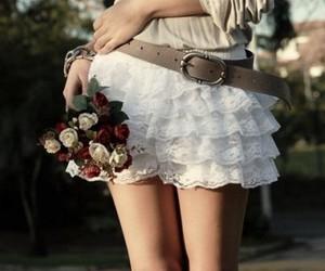 flowers, skirt, and belt image