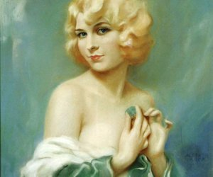 art, blonde, and curls image