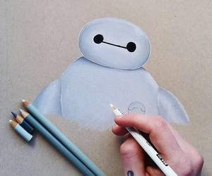 art, baymax, and drawing image