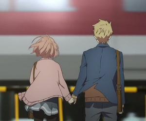 holding hands, together, and train station image