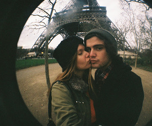 cold, couple, and paris image