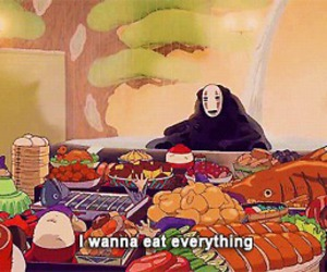 food, spirited away, and anime image