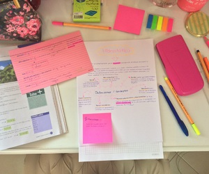 exams, girly, and pink image