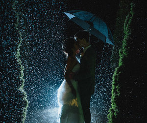 photography, rain, and wedding image